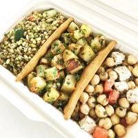 Salad Platter with Barley Soup