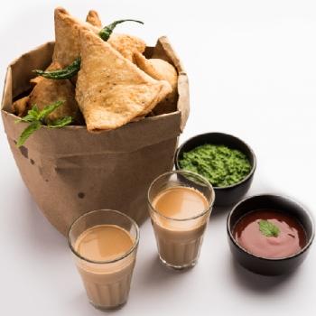 Chotu Samosa with Masala chai