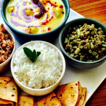 Daily Meal: Chapati, Seasonal Veg.